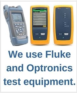 We use Fluke and Optronics test equipment
